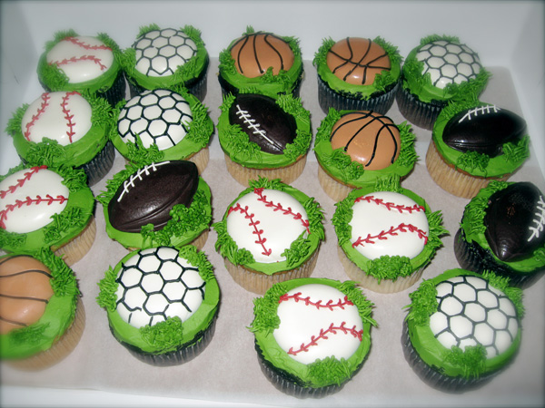 It S All About The Cake Sports Cupcakes A Custom