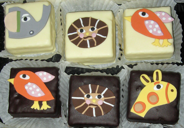 Petit Fours with Animals